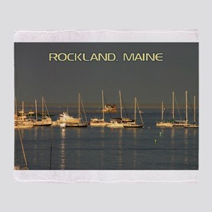 Rockland Harbor, Maine Throw Blanket
