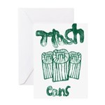 Trash Can Greeting Cards