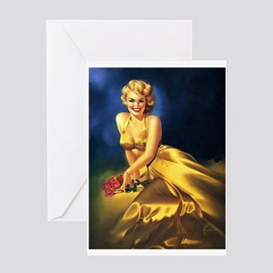 Pin Up: Extravagent Dress ! Greeting Cards