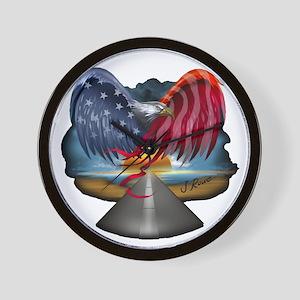 J Rowe Freedom Eagle Wall Clock