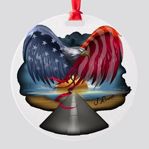 J Rowe Freedom Eagle Round Ornament