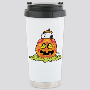 Day of the Dead Snoopy Stainless Steel Travel Mug