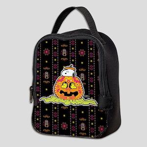 Day of the Dead Snoopy Pumpkin Neoprene Lunch Bag