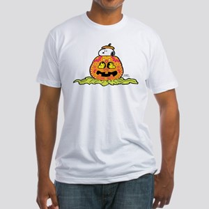 Day of the Dead Snoopy Pumpkin Fitted T-Shirt
