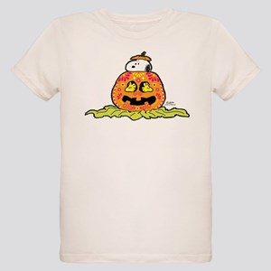 Day of the Dead Snoopy Pumpki Organic Kids T-Shirt
