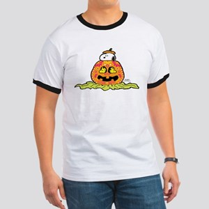 Day of the Dead Snoopy Pumpkin Ringer T