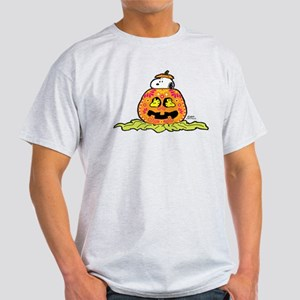 Day of the Dead Snoopy Pumpkin Light T-Shirt