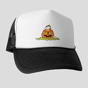 Day of the Dead Snoopy Pumpkin Trucker Hat