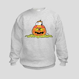 Day of the Dead Snoopy Pumpkin Kids Sweatshirt