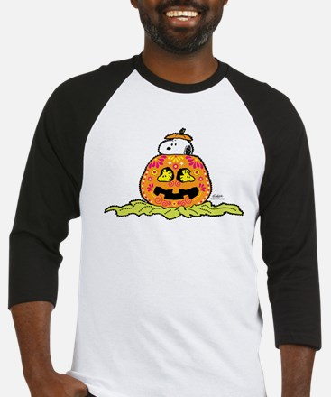 Day of the Dead Snoopy Pumpkin Baseball Jersey