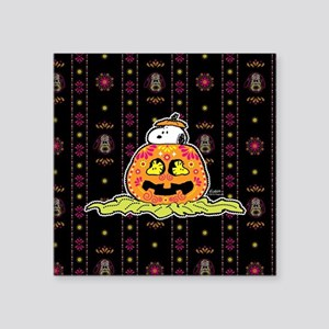 "Day of the Dead Snoopy Pump Square Sticker 3"" x 3"""