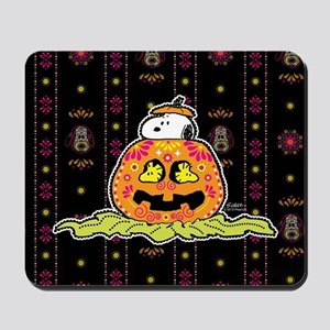 Day of the Dead Snoopy Pumpkin Mousepad