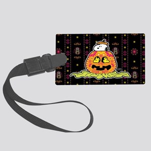 Day of the Dead Snoopy Pumpkin Large Luggage Tag
