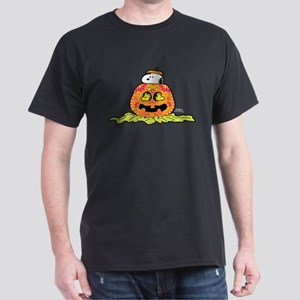 Day of the Dead Snoopy Pumpkin Dark T-Shirt