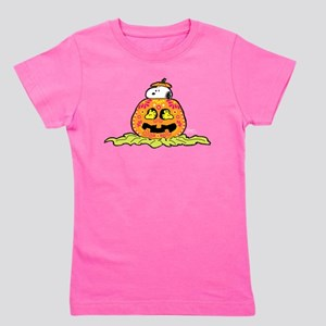 Day of the Dead Snoopy Pumpkin Girl's Tee
