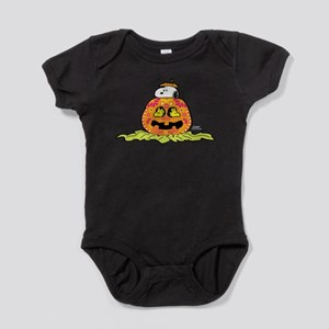 Day of the Dead Snoopy Pumpkin Baby Bodysuit