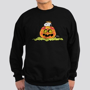 Day of the Dead Snoopy Pumpkin Sweatshirt (dark)