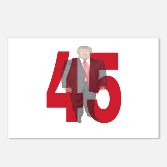 TRUMP 45th PRESIDENT Postcards (Package of 8)