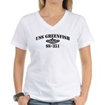 USS GREENFISH Women's V-Neck T-Shirt