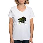 Cicada hi. Women's V-Neck T-Shirt