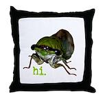 Cicada hi. Throw Pillow