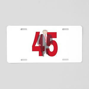 TRUMP 45th PRESIDENT Aluminum License Plate