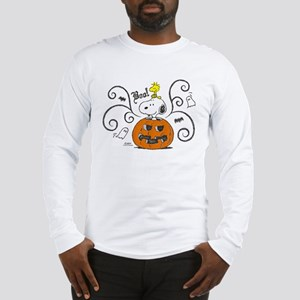 Peanuts Snoopy Sketch Pumpkin Long Sleeve T-Shirt