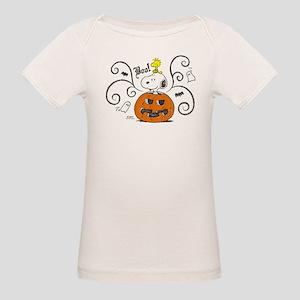 Peanuts Snoopy Sketch Pumpkin Organic Baby T-Shirt