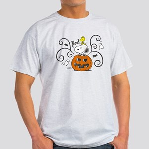 Peanuts Snoopy Sketch Pumpkin Light T-Shirt