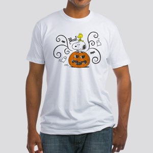Peanuts Snoopy Sketch Pumpkin Fitted T-Shirt