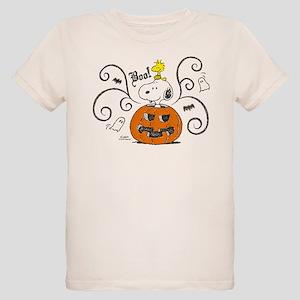 Peanuts Snoopy Sketch Pumpkin Organic Kids T-Shirt