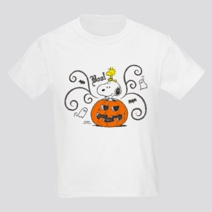 Peanuts Snoopy Sketch Pumpkin Kids Light T-Shirt