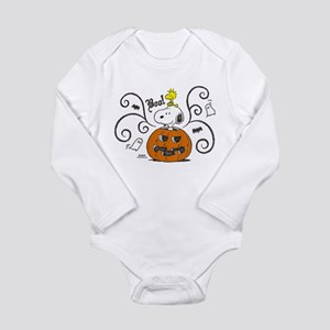 Peanuts Snoopy Sketch Long Sleeve Infant Bodysuit