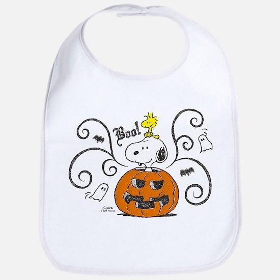 Peanuts Snoopy Sketch Pumpkin Bib