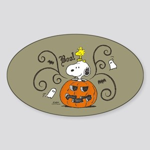 Peanuts Snoopy Sketch Pumpkin Sticker (Oval)