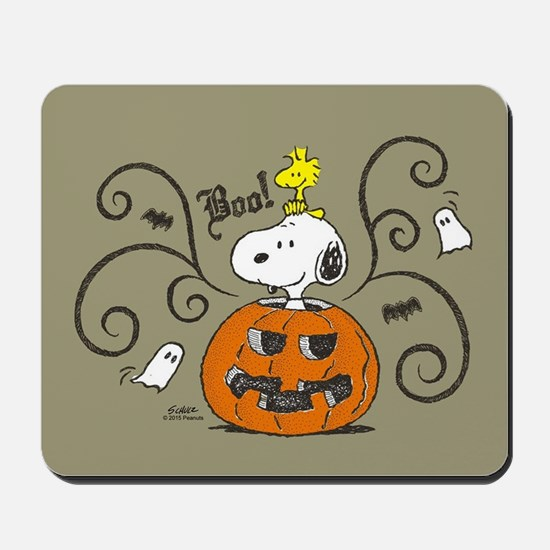 Peanuts Snoopy Sketch Pumpkin Mousepad