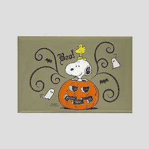 Peanuts Snoopy Sketch Pumpkin Rectangle Magnet