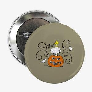 """Peanuts Snoopy Sketch Pumpkin 2.25"""" Button"""