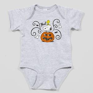 Peanuts Snoopy Sketch Pumpkin Baby Bodysuit