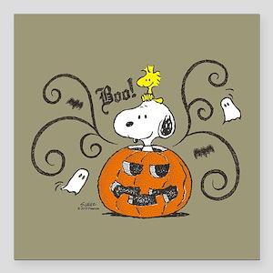 """Peanuts Snoopy Sketch Pu Square Car Magnet 3"""" x 3"""""""