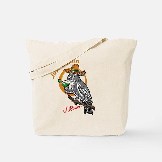 J Rowe Just Chillin Cockatoo Tote Bag