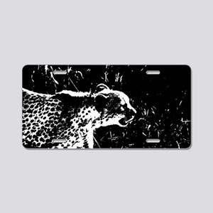 Cheetah Stalker Aluminum License Plate