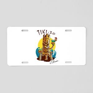J Rowe Tiki:30 God Aluminum License Plate
