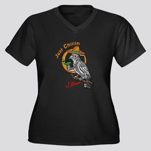 J Rowe Just Chillin Cockatoo Plus Size T-Shirt