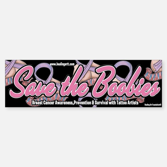 Save the Boobies OG Bumper Bumper Bumper Sticker