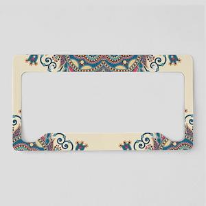 Floral Pattern License Plate Holder