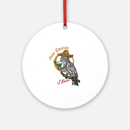 J Rowe Just Chillin Cockatoo Round Ornament