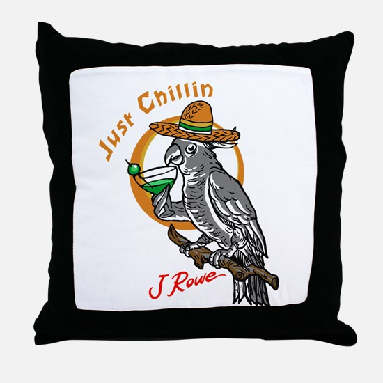 J Rowe Just Chillin Cockatoo Throw Pillow