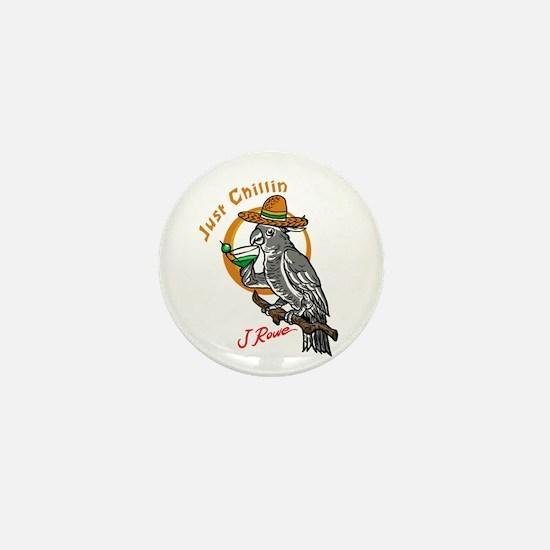 J Rowe Just Chillin Cockatoo Mini Button