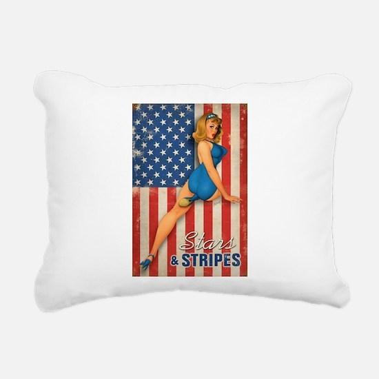 Cool Pin up Rectangular Canvas Pillow